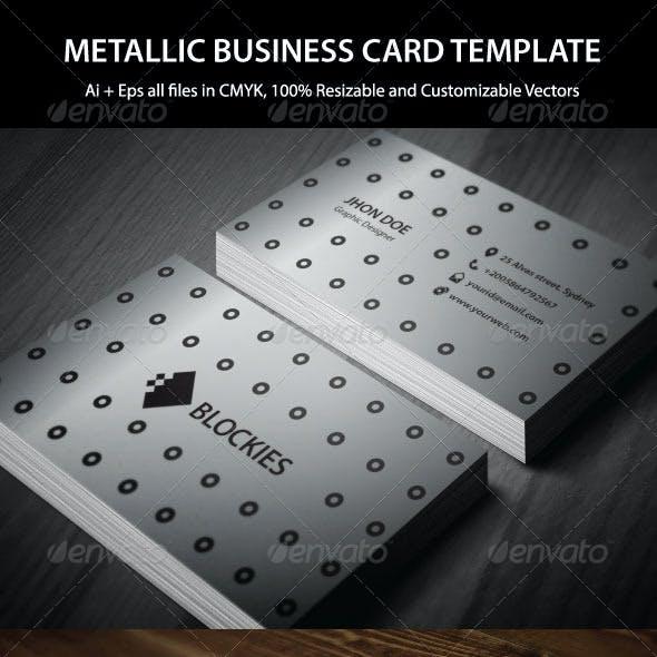 Metallic Business Card Template