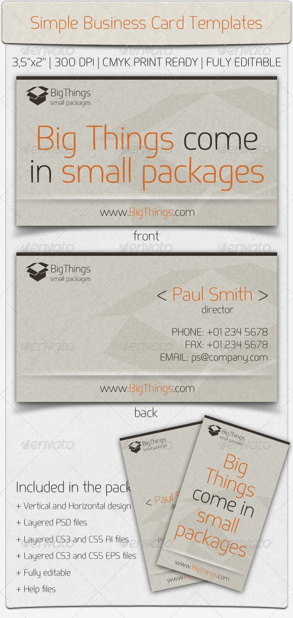 Simple Business Card - Retro/Vintage Business Cards