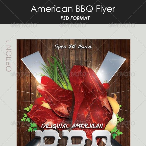 American Steak House Flyer