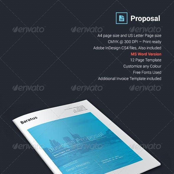 Baratus - Proposal & Invoice Template