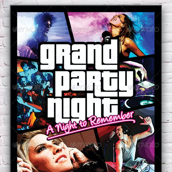 Grand Party Night Flyer