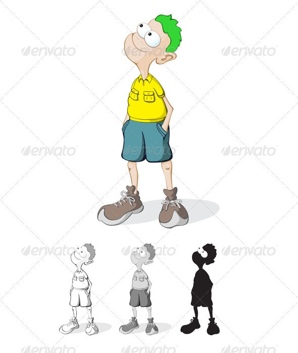 Cartoon Kid - Characters Vectors