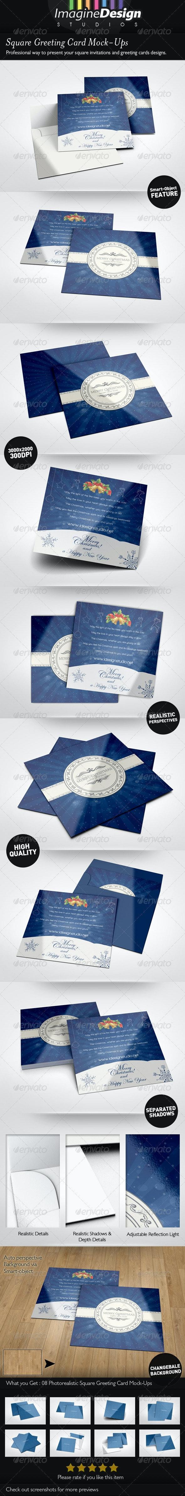Square Greeting Card Mockup - Miscellaneous Print