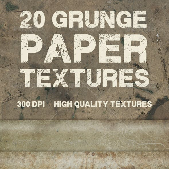 20 Grunge Paper Textures