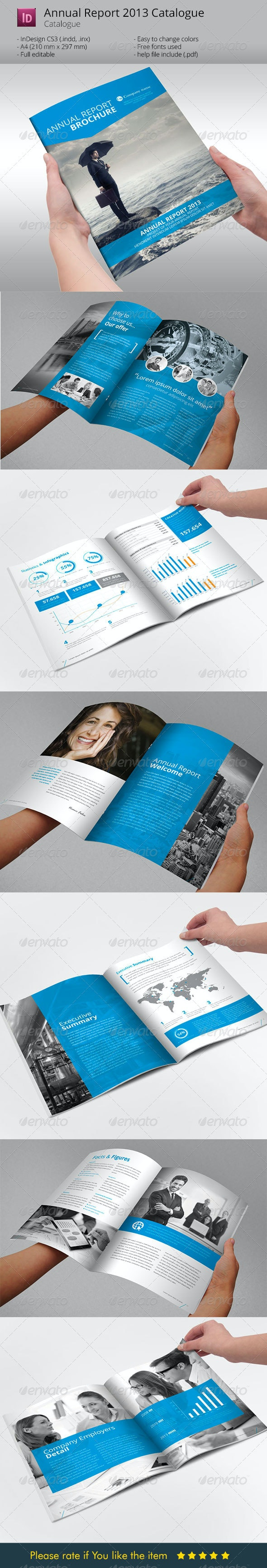Annual Report  Brochure Indesign Template - Corporate Brochures
