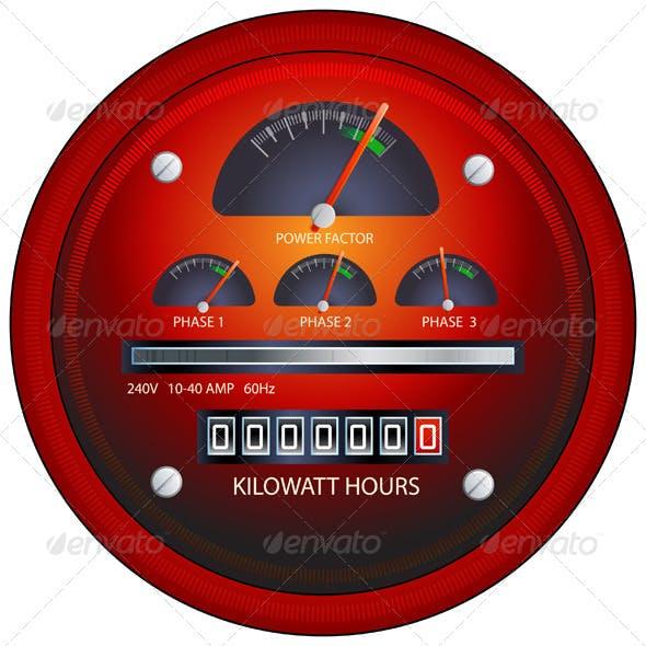 Power Meter Illustration