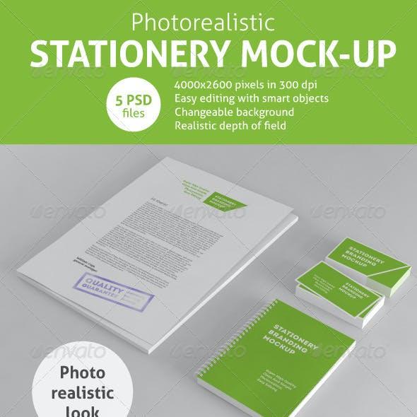 Photorealistic Stationery Branding Mock-Up
