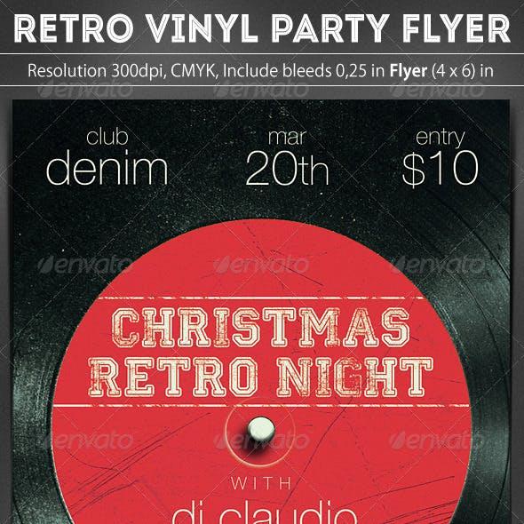 Retro Vinyl Party Flyer