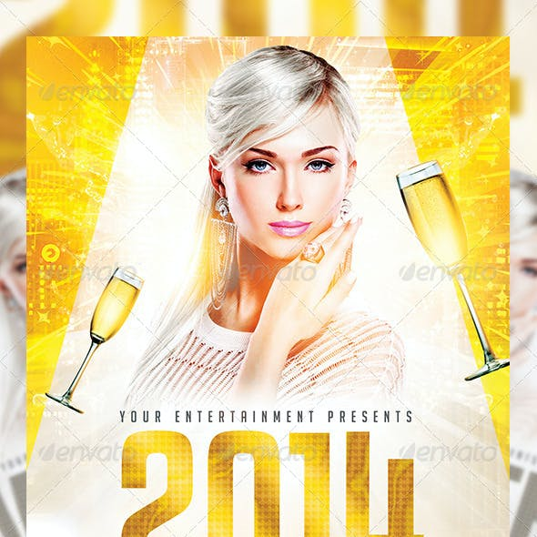 New Year or White Party | Flyer + FB Cover