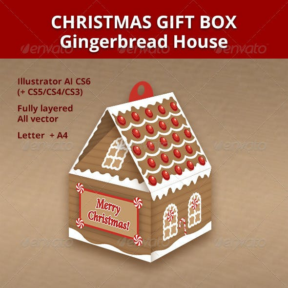 gingerbread house gift box template  Christmas Gift Box - Gingerbread House by red_swatch ...