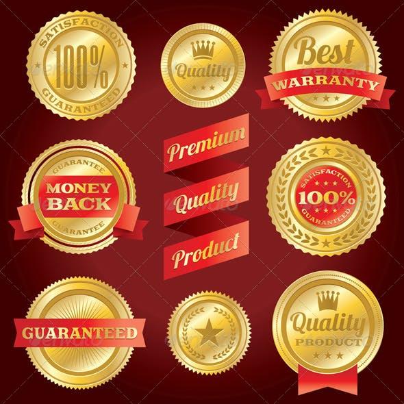 Vector Satisfaction Guarantee and Warranty Labels