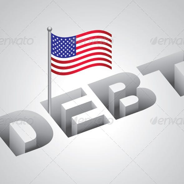 United States National Debt Concept