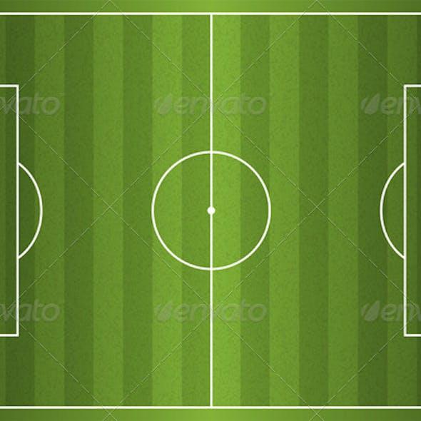 Realistic Vector Football Soccer Field