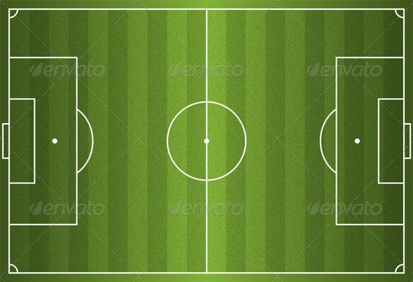 Realistic Vector Football Soccer Field - Sports/Activity Conceptual