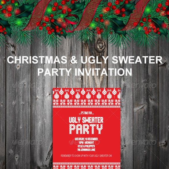 Ugly Sweater & Christmas Invitation