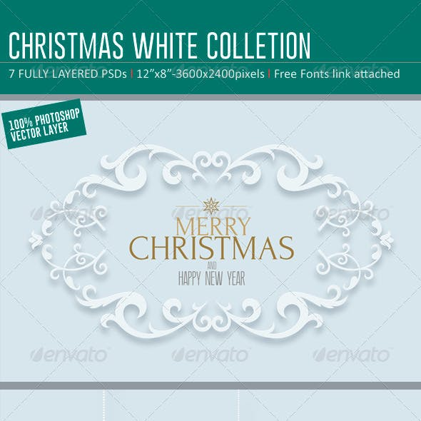 Christmas White Backgrounds- Card Colletions