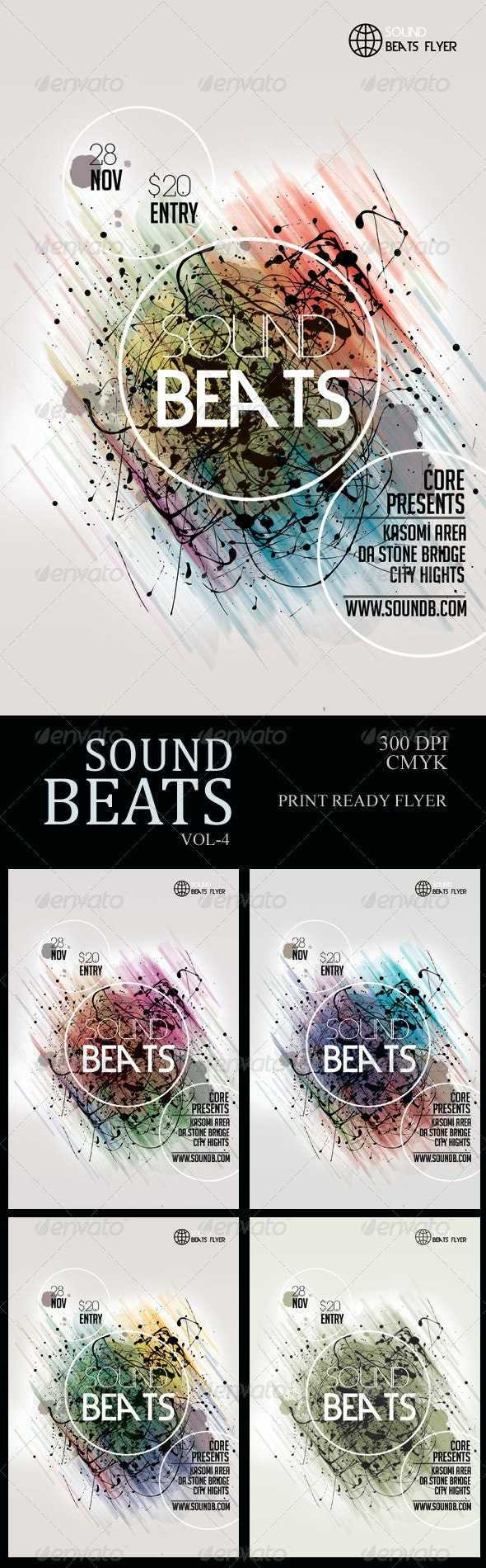 Sound Beats4 Futuristic Flyer  - Miscellaneous Events