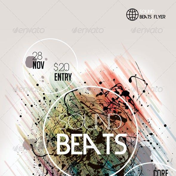 Sound Beats4 Futuristic Flyer