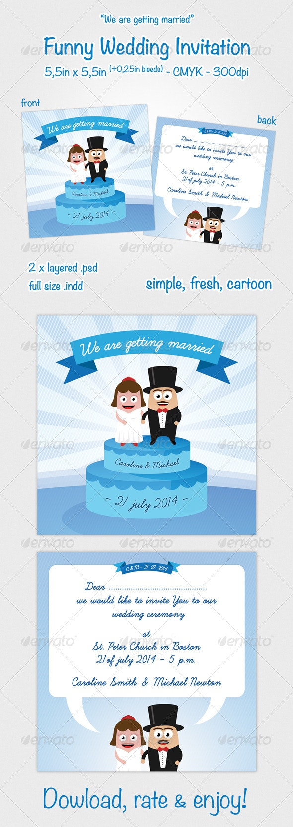 Funny Wedding Invitation - Weddings Cards & Invites