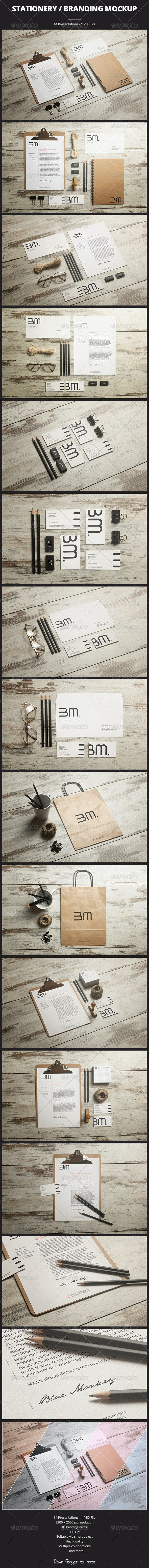 Stationery / Branding Mockup - Print Product Mock-Ups