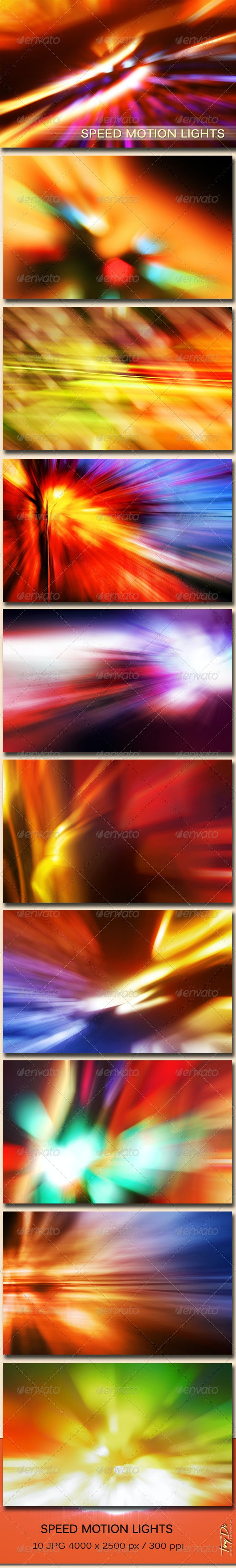Speed Motion Lights - Miscellaneous Backgrounds