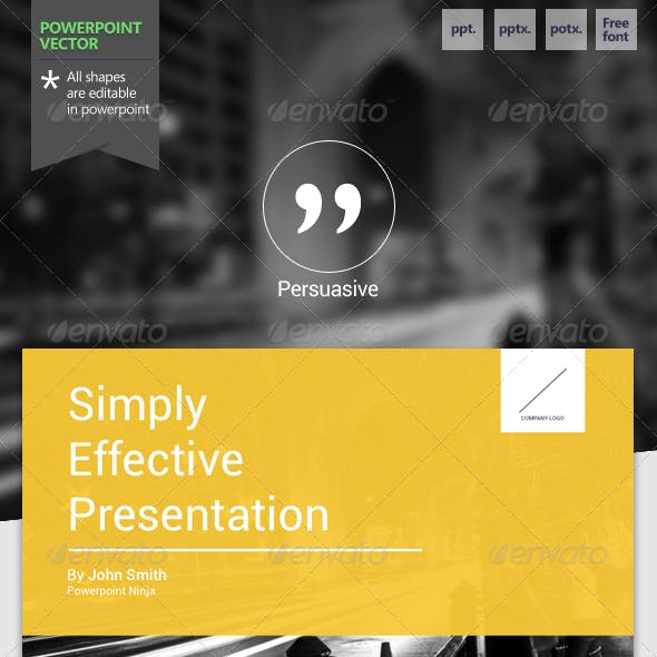 Persuasive - Powerpoint Template