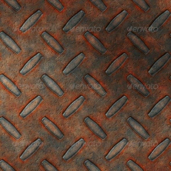 Rust diamond metal