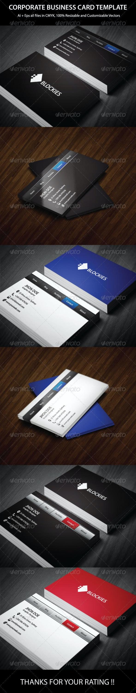 Navigation Bar Business Card Template - Corporate Business Cards