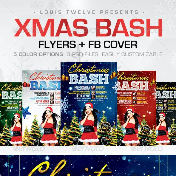 Christmas Bash   Flyers + FB Cover