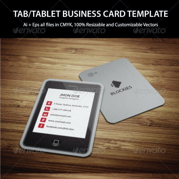 Tablet Business Card Template