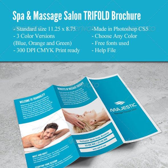 Spa & Massage Salon Trifold Brochure