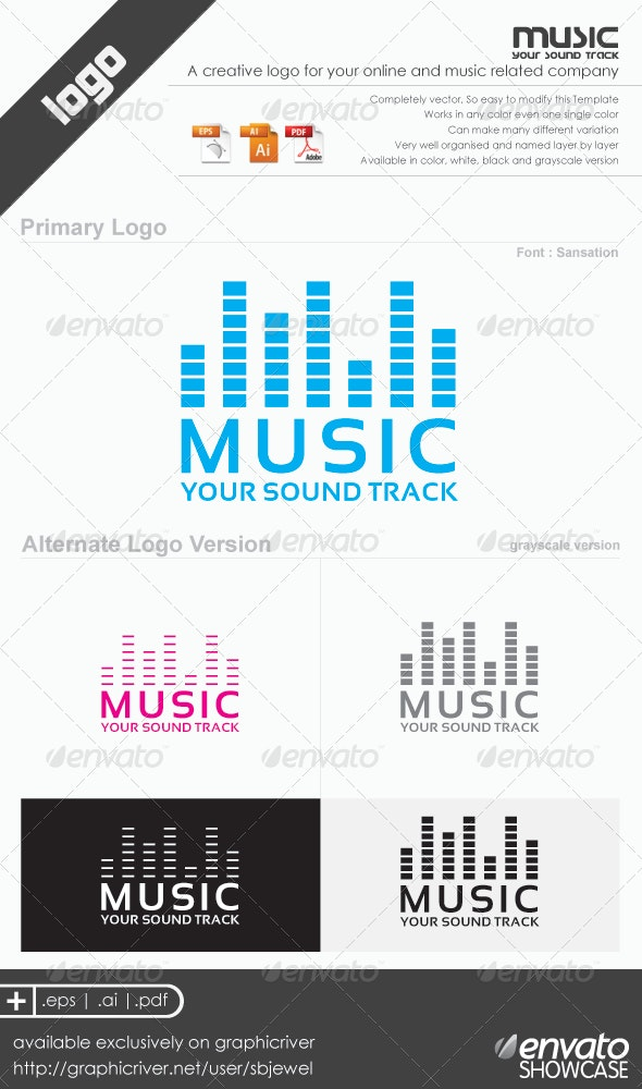 Music Logo Templates - Vector Abstract