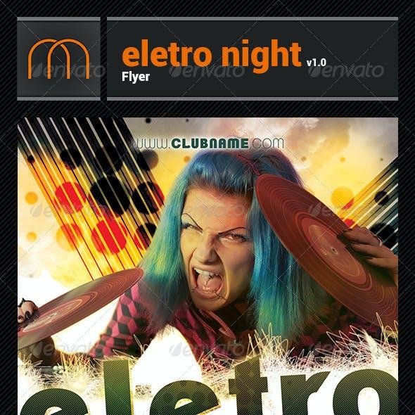 Electro Night v1.0 - Flyer