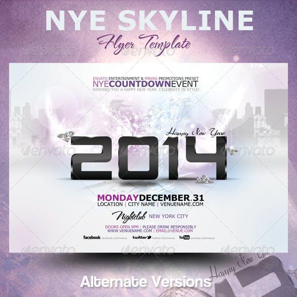 NYE 2014 Skyline Flyer Template