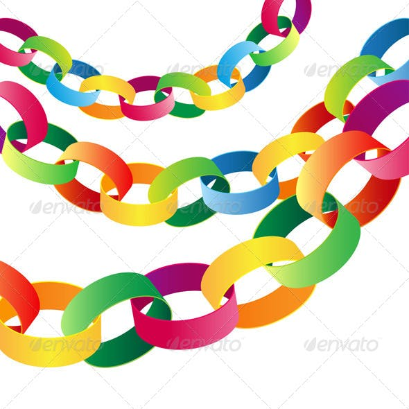 Paper Chains with a Balloons Party Banner