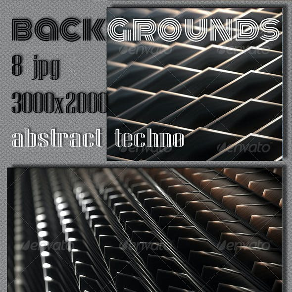 Techno 3D Backgrounds