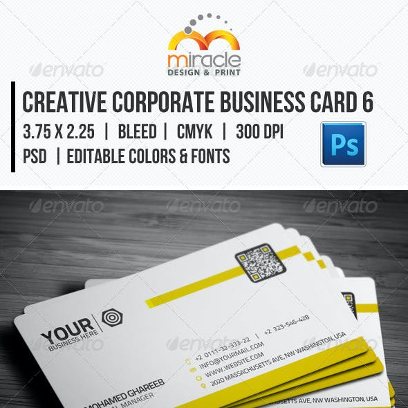 Creative Corporate Business Card 6