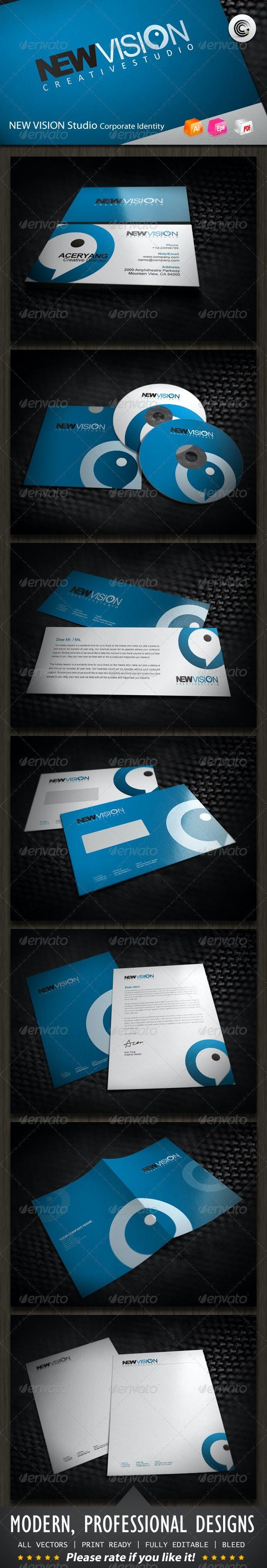 New Vision Studio Corporate Identity - Stationery Print Templates
