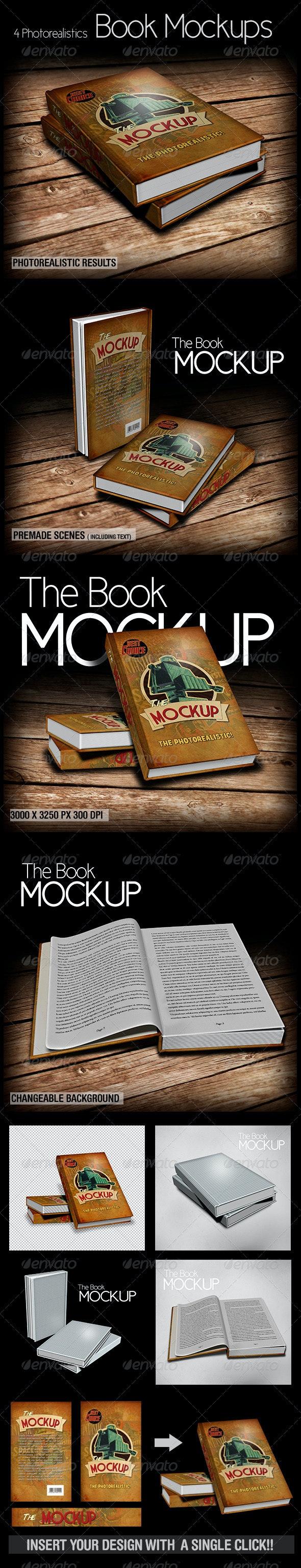 The Book Mockup - Books Print