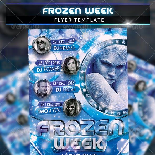 Frozen Week Flyer Template