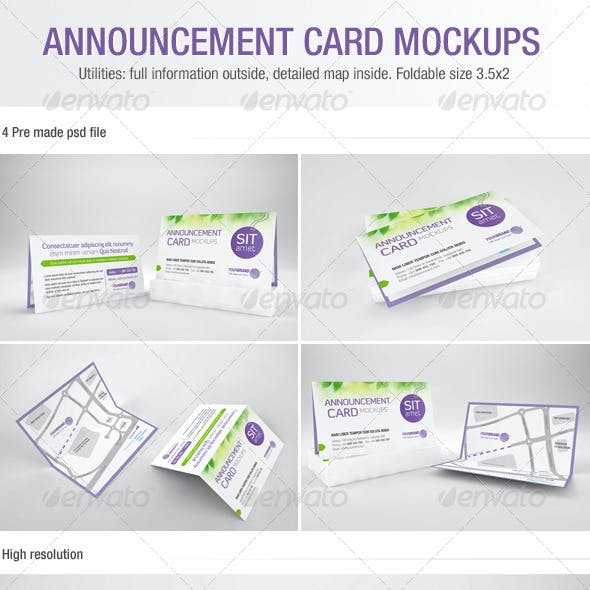 Announcement Card Mockups