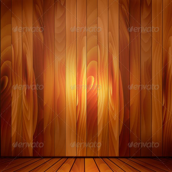 Background with Wooden Wall and a Wooden Floor