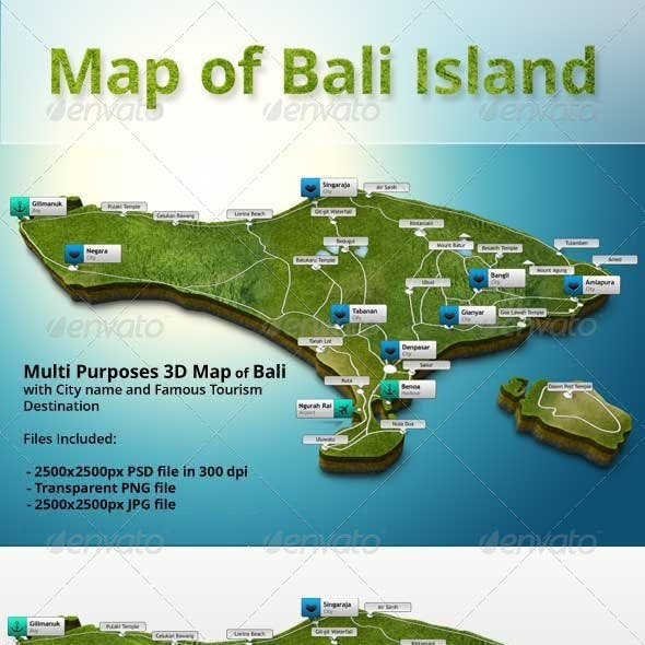 3D Map of Bali