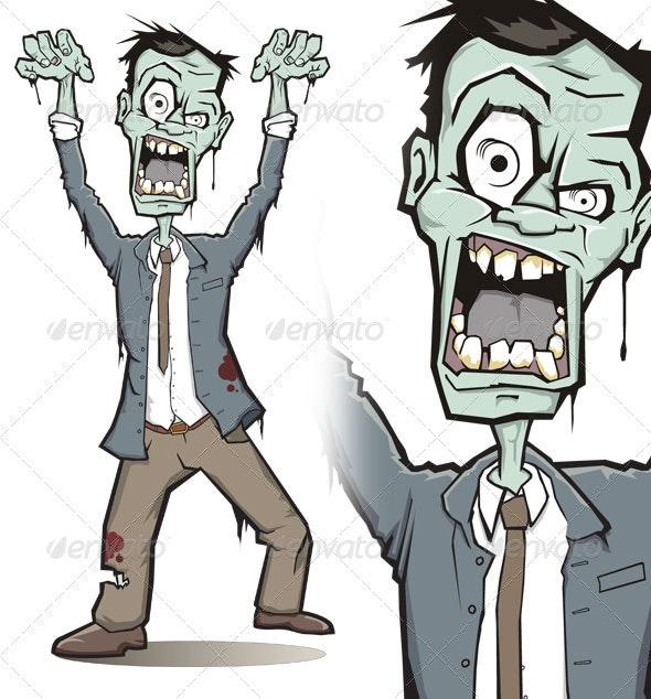 Zombie Character - Characters Vectors