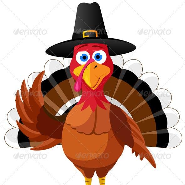 Thanksgiving Turkey. Vector Illustration
