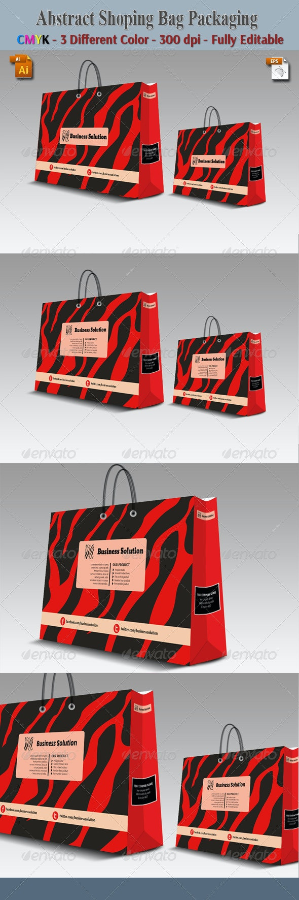 Abstract Shoping Bag Packaging