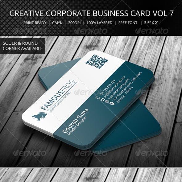 Creative Corporate Business Card Vol 7
