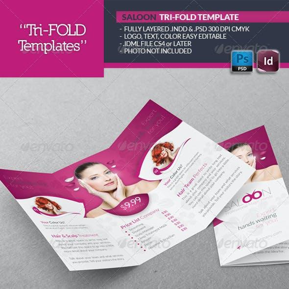 Beauty Saloon Tri-Fold Template