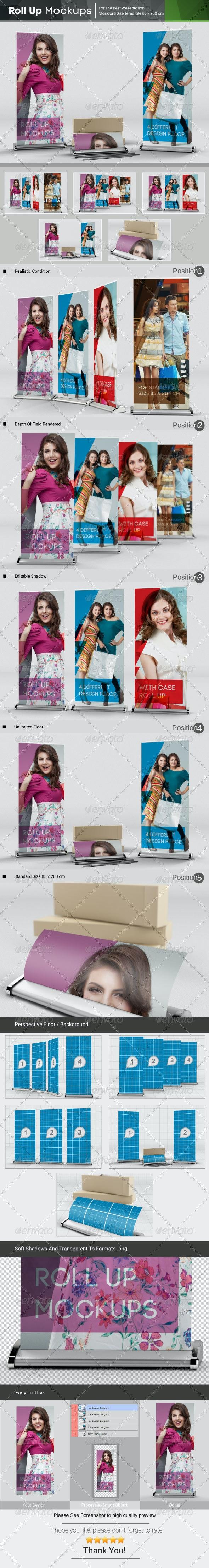 Roll Up Mockups - Signage Print