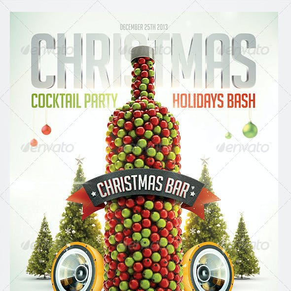 Christmas Cocktail Flyer Template
